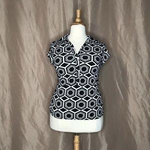 Alfani XL black & white blouse